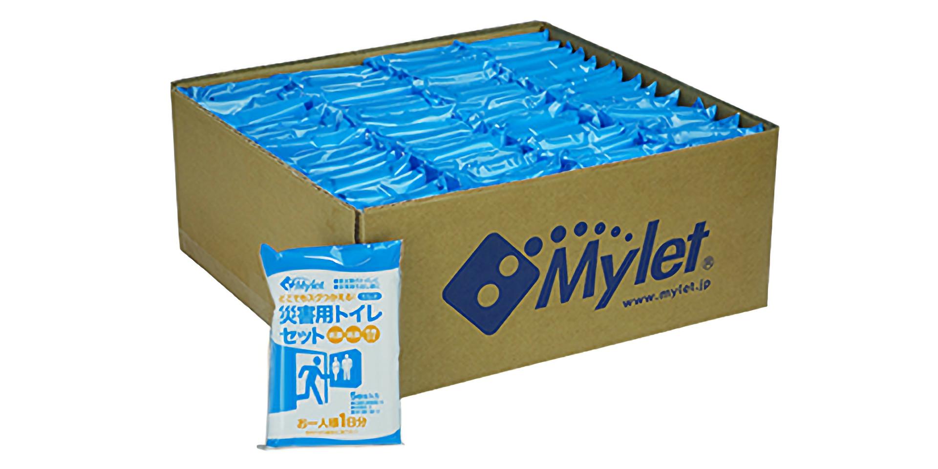 災害トイレ大量配布用「マイレットP-300」トイレ5回分の小分けパック60個入り